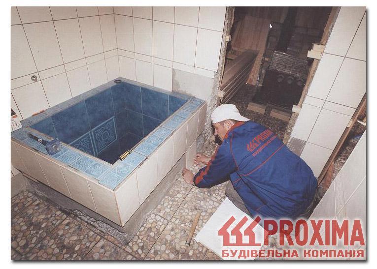Маленький бассейн в бане