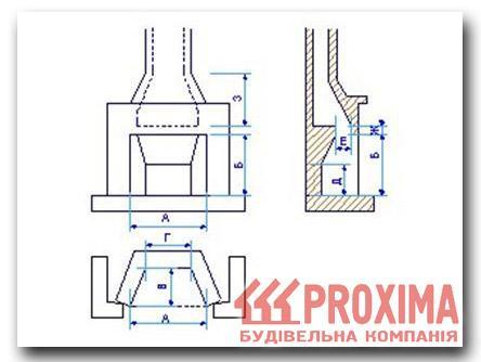 схема строения камина