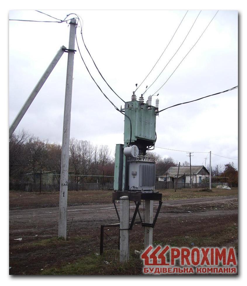 Трансформаторная подстанция сельского типа ТП-10/0,4 кВ.