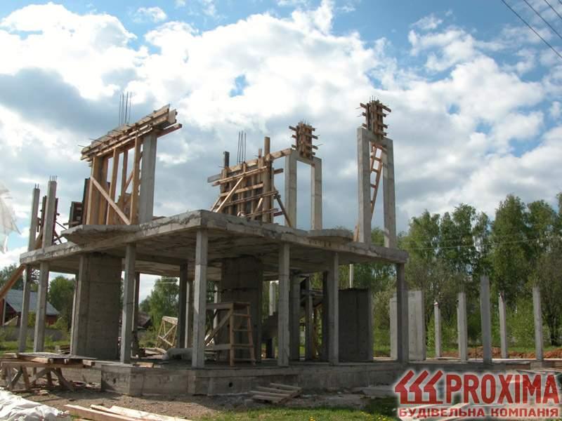 Дом с бетонным каркасом своими руками 99