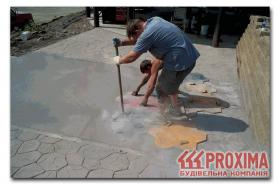 Рисунок на бетоне своими руками