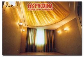 Дизайн потолков с тканью и подсветкой